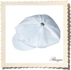 Kaszkiet elegant blanc