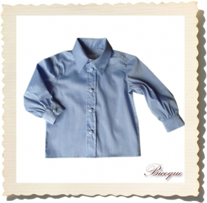 Koszulka do Chrztu classique petite blue