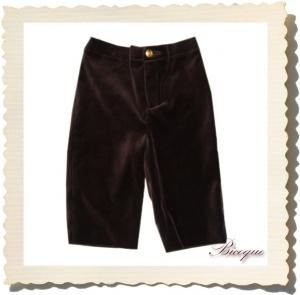 Spodnie velours de chocolat